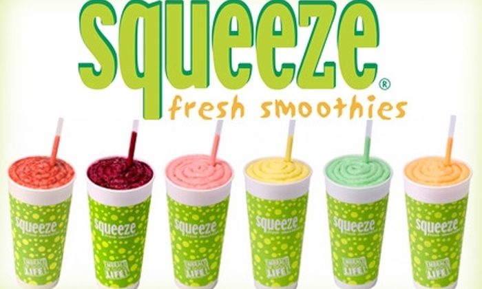 Squeeze Fresh Smoothies - Multiple Locations: $5 for $10 Worth of Smoothies, Yogurt, and Juice at Squeeze Fresh Smoothies