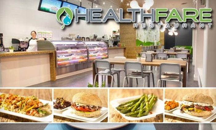 HealthFare Restaurant - Edmonton: $6 for $13 Worth of Nutritious Cuisine at HealthFare Restaurant