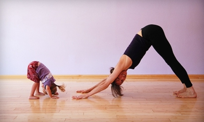 New Day Yoga Studio - Overland Park: $15 for a Kid and Adult Yoga Package and Massage at New Day Yoga Studio in Overland Park (Up to $115 Value)