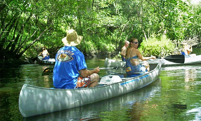 Canoe Outpost - Ruskin: Rental of a Double or Single Kayak or a Canoe from Canoe Outpost (Up to 50% Off)