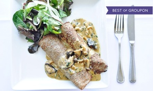 Marche Bacchus French Bistro: Two Course Prix-Fixe French Lunch for One, Two, or Four at Marche Bacchus French Bistro (Up to 38% Off)