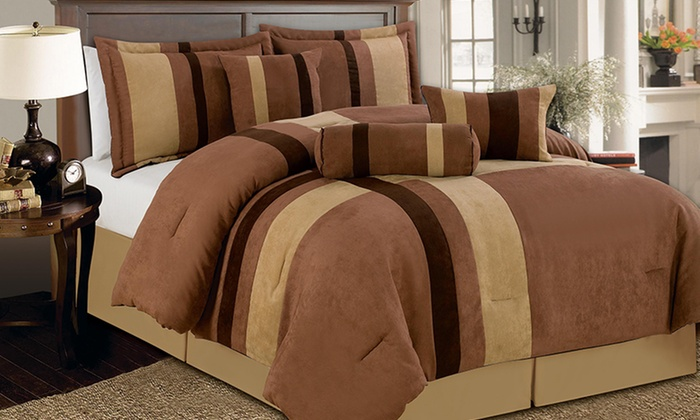 7PC Luxury Microsuede Comforter Sets: $69.99 for a Microsuede 7-Piece Comforter Set ($179.99 List Price). Multiple Options Available. Free Shipping & Returns.