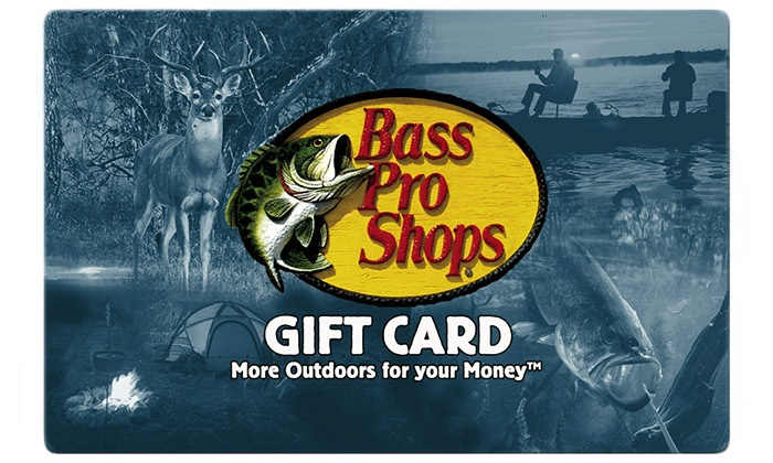Bass Pro Shops, Inc: $25 eGift Card to Bass Pro Shops + 10% Back in Groupon Bucks