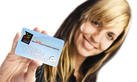 $16 for $25 Worth of Discount Card at Eat and Play Card