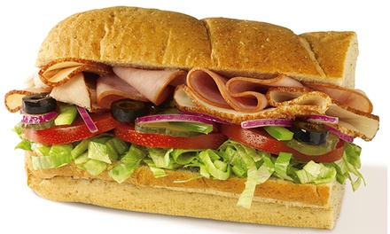 Sub Meal for Two or Party Platter for Up to Nine at Subway (Up to 41% Off)