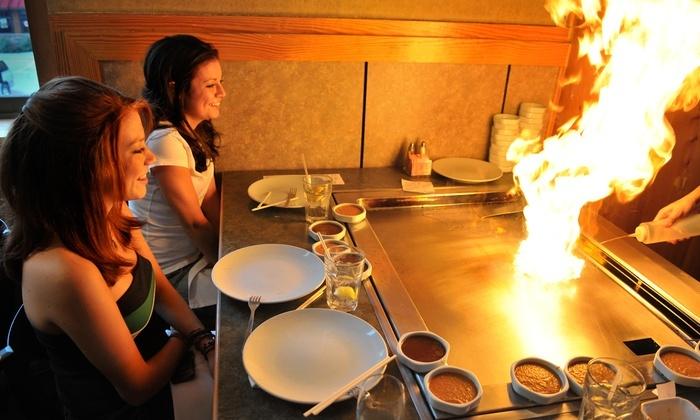 Saga Hibachi Steakhouse & Sushi Bar - Robinson Township: Japanese Dinner Entrees for Two at Saga Hibachi Steakhouse & Sushi Bar (Up to 48% Off)