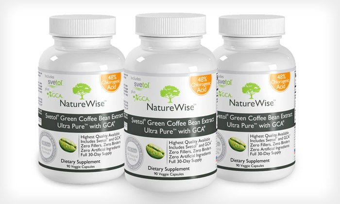Green Coffee Bean Extract with Svetol: $14.99 for a 30-Day Supply of Green Coffee Bean Extract with Svetol by NatureWise ($64.95 List Price)