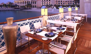 Pearls and Caviar Shangri La Qaryat Al Beri: Friday Brunch with House Beverages for Up to Eight at Pearls & Caviar at Shangri La Qaryat Al Beri (Up to 45% Off)
