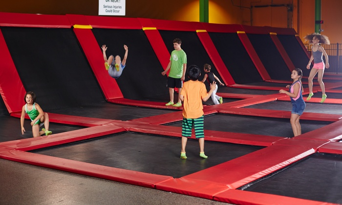 Rockin Jump - Carol Stream - Rockin' Jump: Two-Hour Jump Passes for Two, Four, or Six or Parent and Toddler Jump Time at Rockin' Jump (Up to 51% Off)