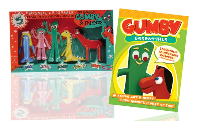 Gumby & Friends DVD and Bendable Action Figure Set: Gumby & Friends DVD and Bendable Action Figure Set. Free Returns.