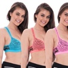 Animal Print Mesh Sports Bras with Underwire Support (4-Pack)