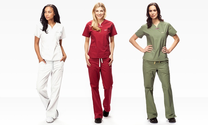 IguanaMed Women's Quattro Scrub Tops or Pants: IguanaMed Women's Quattro Scrub Tops or Pants. Multiple Colors Available. Free Shipping and Returns.