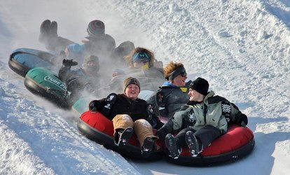 image for Snow-Tubing, Hot Cocoa, and Treats for Two or Four at Valley's Edge (Up to 40% Off)