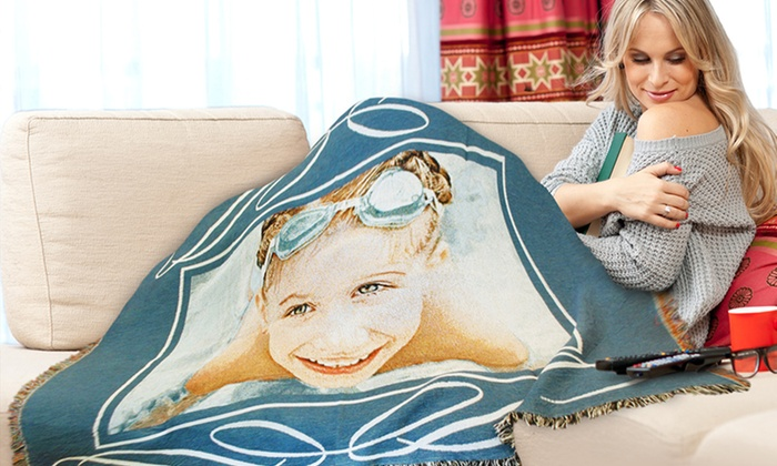 "PhotoWeavers: $59.99 for a Custom 71""x53"" Photo Blanket from PhotoWeavers ($128 Value)"