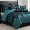 10-Piece Flocked Comforter Set
