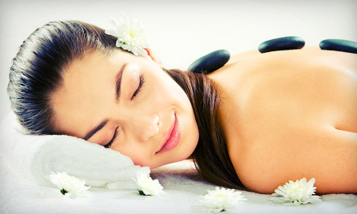 Cinema Wellness - East LA: Hot-Stone Massage with Aromatherapy and Custom Anti-Aging Facial for One or Two at Cinema Wellness (Up to 66% Off)