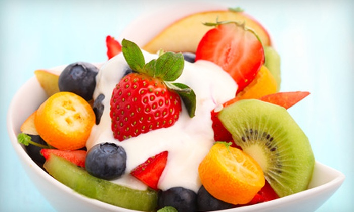 Pure Bliss Yogurt - West Arlington: Frozen Yogurt at Pure Bliss Yogurt (Half Off). Two Options Available.