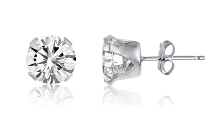 2.00 CTTW Genuine White Topaz Stud Earrings in Sterling Silver
