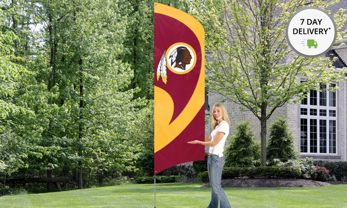 NFL 8.5'x2.5' Tall Team Flag with 11.5' Steel Pole: NFL 8.5'x2.5' Tall Team Flag with 11.5' Steel Pole. Multiple Teams Available. Free Returns.