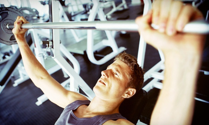 Gold's Gym - South Hill:  Two-Month Membership Package with Hydromassage, Personal Training, and Optional Tanning at Gold's Gym (Up to 85% Off)