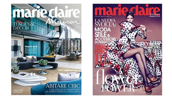 Mobili Bagno Marie Claire.1 Anno Di Riviste Marie Claire Groupon Goods