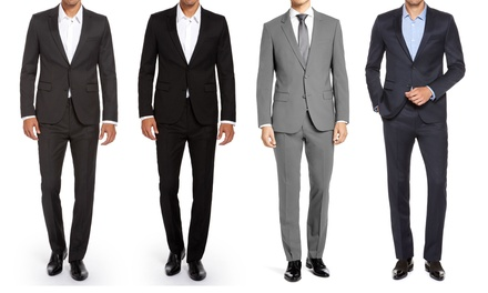 Renoir Men's Slim Fit 2-Piece Suits