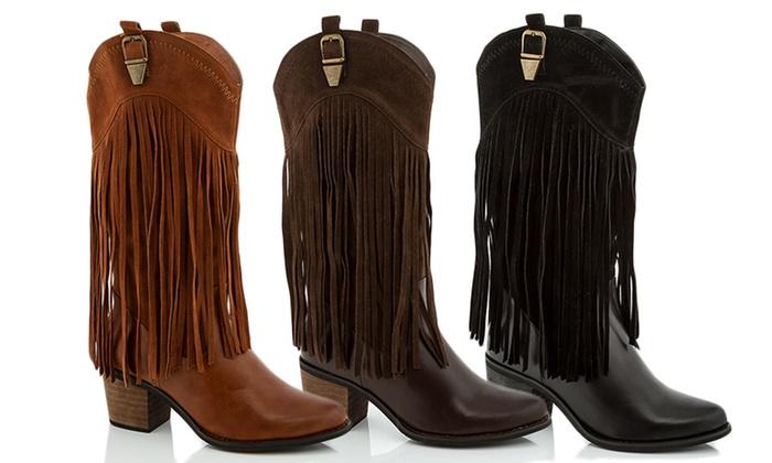 Lady Godiva Women's Fringe Western Boot