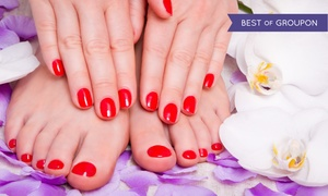 Forever Young Skin & Hair Spa: One or Two Shellac Manicures with Pedicures at Forever Young Skin & Hair Spa (Up to 58% Off)