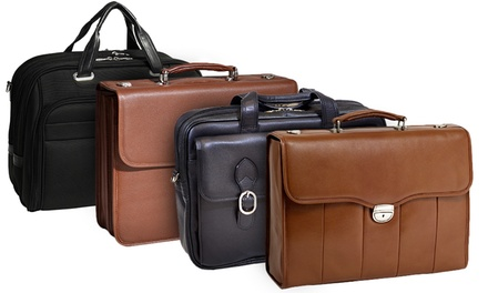 McKlein USA Men's Leather-and-Nylon Laptop-Case Briefcases