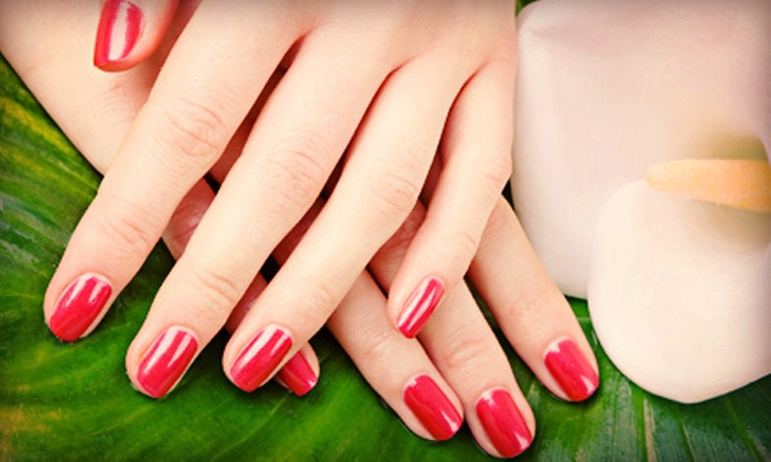 Style Nails - Burnsville: Shellac Manicure, Shellac Pedicure, or Full Set of Pink-and-White Solar Nails at Style Nails (Up to 52% Off)