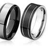 Stainless Steel Rings with Black-Plating
