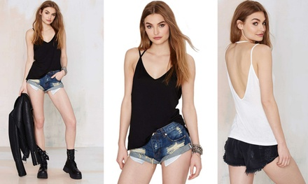 Women's Backless Cami Top: One ($12.95) or Two (19.95)