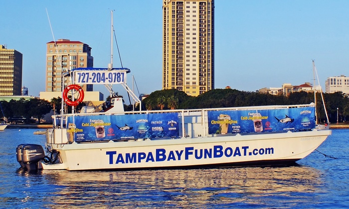 Tampa Bay Fun Boat - St. Petersburg: Boat Tour for 1, 2, or 4 or Private Boat Party for Up to 35 on Tampa Bay from Tampa Bay Fun Boat (Up to 52% Off)