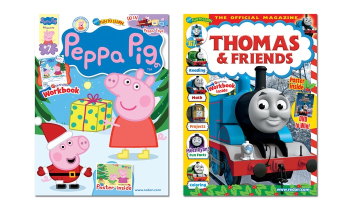 Blue Dolphin Magazines: 1-Year, 6-Issue Subscription to Peppa Pig or Thomas & Friends Magazines (Up to 48% Off)