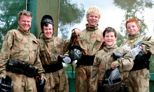 Paintball Networks: £34.95 for a Party for Up to 10 Kids with 100 Paint Balls Each & Light Lunch at Paintball Networks (Up to 84% Off)