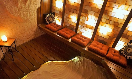 One, Three, or Five 50-Minute Private Salt Cave Sessions at Green Leaf and Pebble Tea Spa (Up to 55% Off)