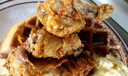 $12 Worth of Food or One Chicken and Waffle Meal at Waffle Shop (Up to 36% Off)