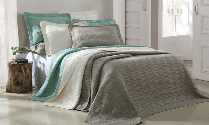 Camden 3-Piece Quilted Coverlet Set: Camden 3-Piece Quilted Coverlet Set. Multiple Options Available from $42.99–$46.99. Free Shipping and Returns.