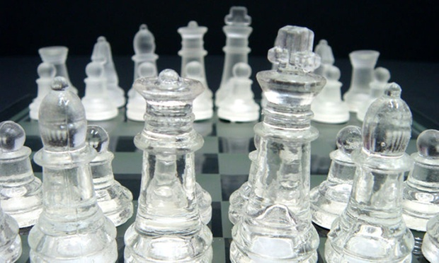 Glass Chess Set In Printed Box Groupon Goods