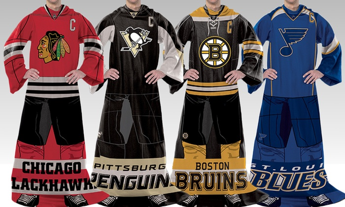 NHL Player Comfy Throw with Sleeves: NHL Player Comfy Throw with Sleeves. Multiple Teams Available. Free Returns.