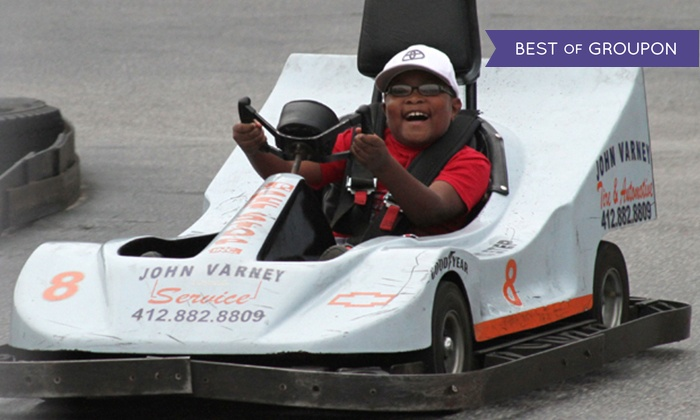 The Go-Kart Track - White Marsh: Go-Karts with Optional Rounds of Mini Golf at The Go-Kart Track (Up to 58% Off). Four Options Available.