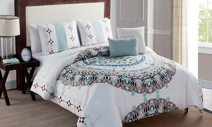 with and admirable medallion gorgeous for comforter bedding platform bedroom color bed awesome set