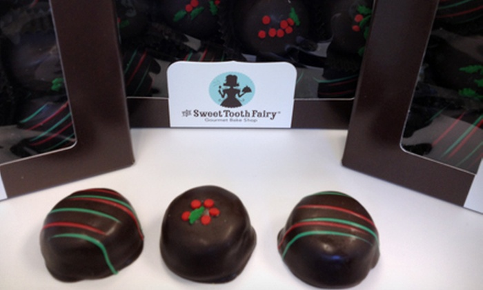 The Sweet Tooth Fairy - North Scottsdale: $15 for Three Packs of One Dozen Double-Fudge Holiday Cakebites at The Sweet Tooth Fairy ($36 Value)