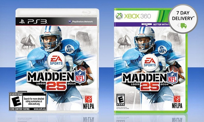 Madden NFL 25 for Playstation 3 or Xbox 360: Madden NFL 25 for Playstation 3 or Xbox 360. Free Returns.