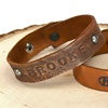 Personalized Leather Strap Bracelets (Up to 90% Off)