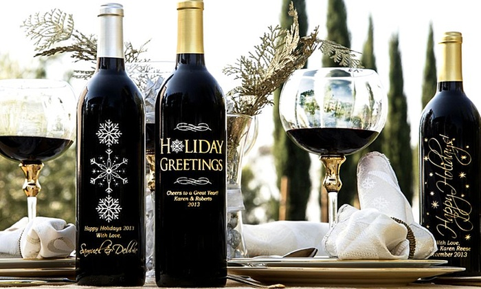 Miramonte Winery: One Custom-Etched Bottle of Wine with Option for Gift Box (Up to 43% Off). Free Shipping.