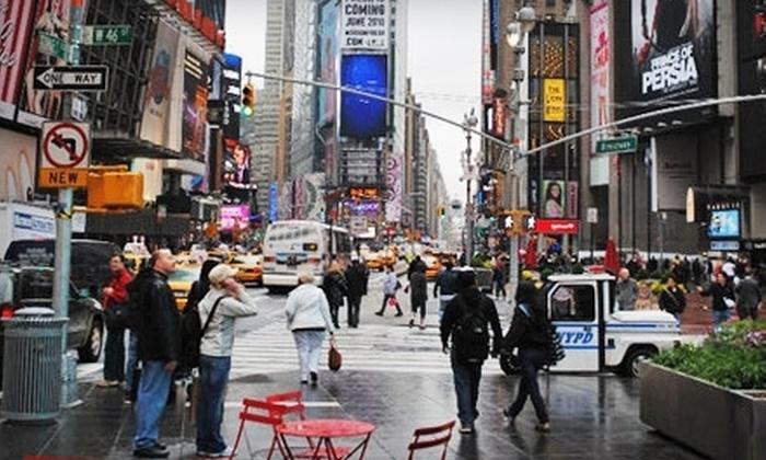 Manhattan Walking Tour - Times Square: Historical Times Square Tour for One, Two, or Four from Manhattan Walking Tour (Up to 65% Off)