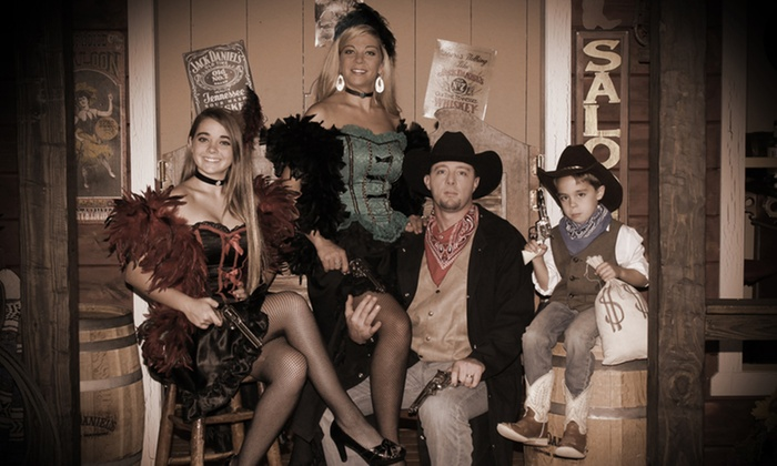 """Four Sisters Old Time Photo LLC - Pigeon Forge: Old-Time Photo Shoot with 8""""x10"""" Print for Up to Four or Eight at Four Sisters Old Time Photo (Up to 78% Off)"""
