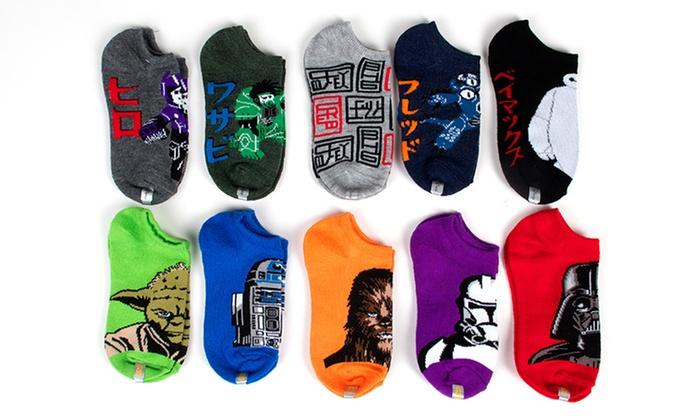 Star wars no show socks 10 pairs of boys big hero 6 and star wars no