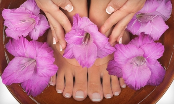 Spa On The Square - Canton: Classic Mani-Pedi, Brazilian Wax, or Both at Spa On The Square (Up to 59% Off)
